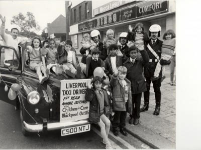 The first outing, to Blackpool, in 1985, with Bernie Buxton's brother, Ronnie, on the far left
